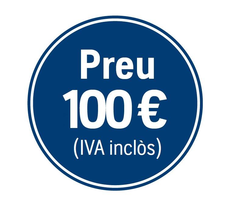Precio 100€ iva incluido
