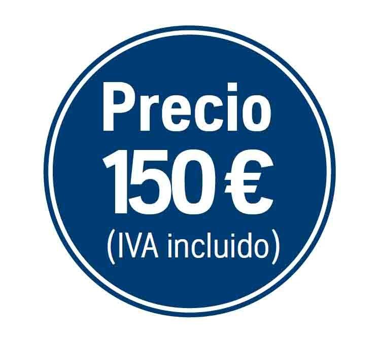 Precio 150€ iva incluido