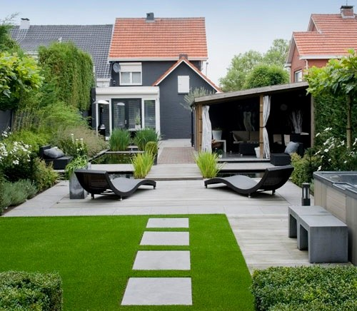 Césped artificial residencial