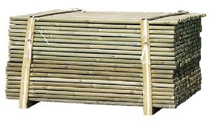 Pals tornejats de fusta tractada
