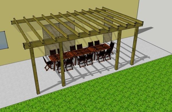 Disfruta de tu terraza durante todo el año con una pérgola de madera tratada