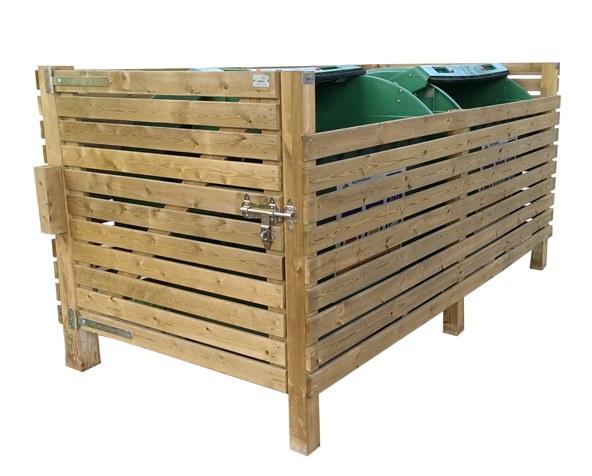 Ocultació de fusta tractada per contenidors