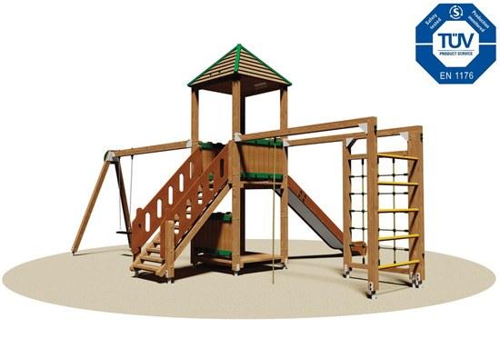Parque infantil opciones materiales tobogan