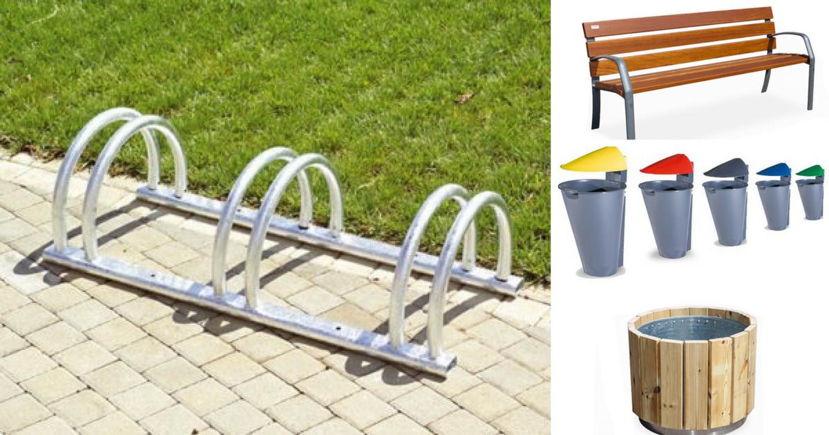 Mobiliario urbano para parques y jardines
