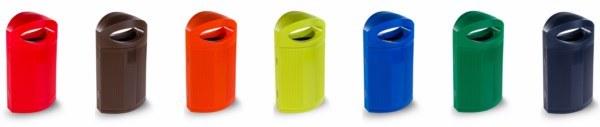 Papelera reciclaje de colores
