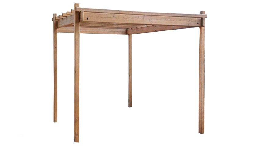 Pérgola de madera de pino tratado